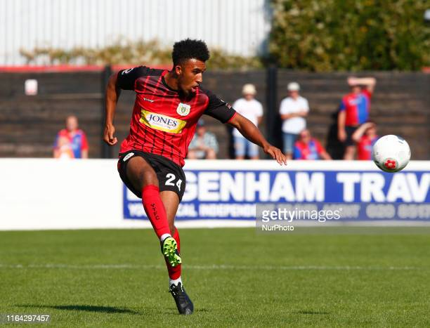 Remeao Hutton of Yeovil Town during National League match between Dagenham and Redbridge FC and Yeovil Town at The Chigwell Construction Stadium in...