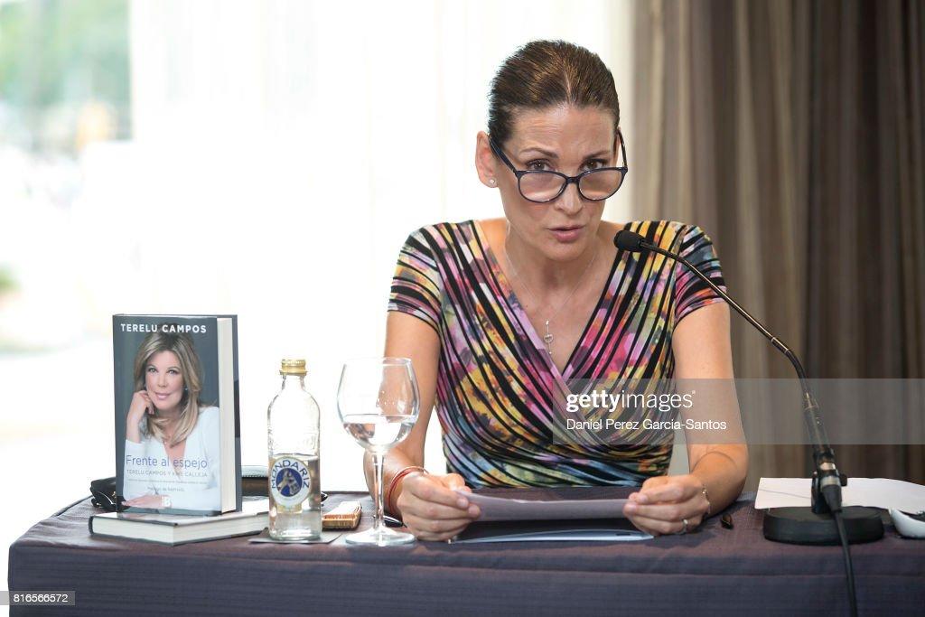 Remedios Cervantes attends the presentation of her autobiography book 'Frente Al Espejo' at Hotel Malaga Palacio on July 17, 2017 in Malaga, Spain.