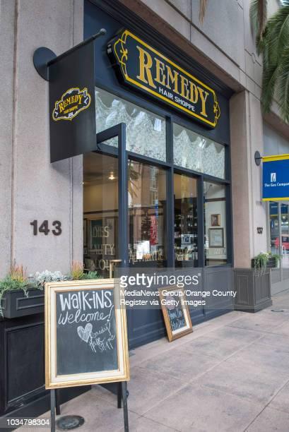 Remedy Hair Shoppe at the Center Street Promenade in downtown Anaheim. ///ADDITIONAL INFORMATION: OffTrack.1205 Ð 12/3/13 Ð LEONARD ORTIZ, ORANGE...