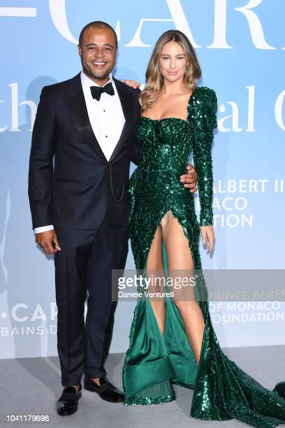 Remee Jackman and Mathilde Goehler attend the Gala for the Global Ocean hosted by HSH Prince Albert II of Monaco at Opera of MonteCarlo on September...