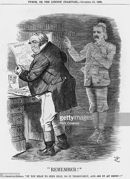 Remember 1888 John Bull the representative of the British people looks at a map to find out the location of Suakin In the background the ghost of...