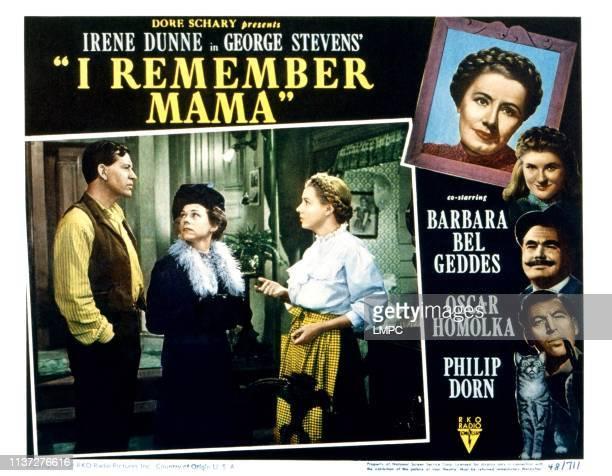 I Remember Mama lobbycard from left Philip Dorn Ellen Corby Irene Dunne 1948