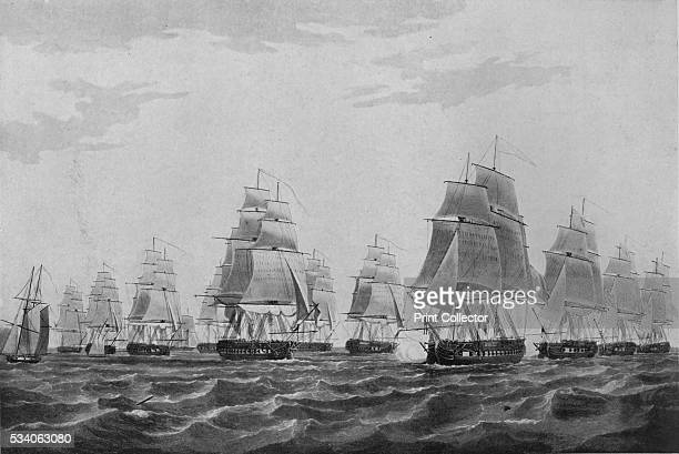 Remember Nelson' from 'Old Naval Prints' by Charles N Robinson Geoffrey Holme 1924 On 13 March 1811 a British squadron engaged with a French and...