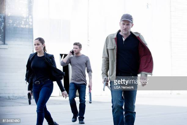 SHOOTER Remember the Alamo Episode 202 Pictured Jaina Lee Ortiz as Angela Tio Ryan Phillippe as Bob Lee Swagger Todd Lowe as Colin Hobbs