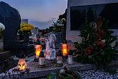 rememberance candle lanterns cemetery all saints