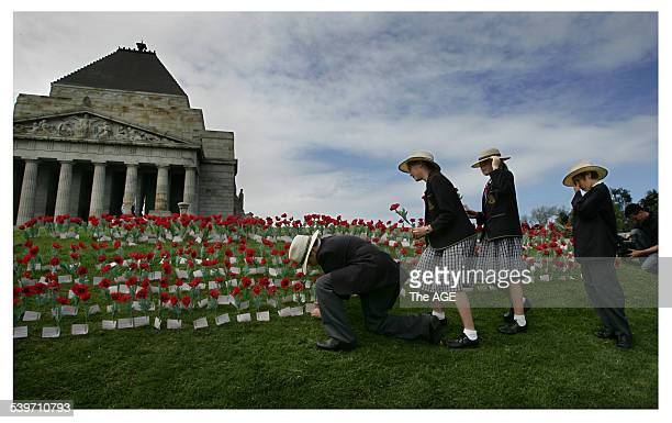 Rememberance Day at the Melbourne Shrine For the first time no World War One diggers are alive to parttake in the service which is know being left to...