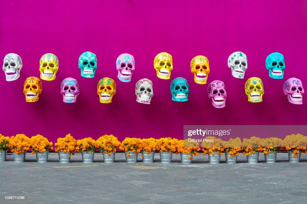 Remembering  Day of the Dead in Mexico City : Foto de stock