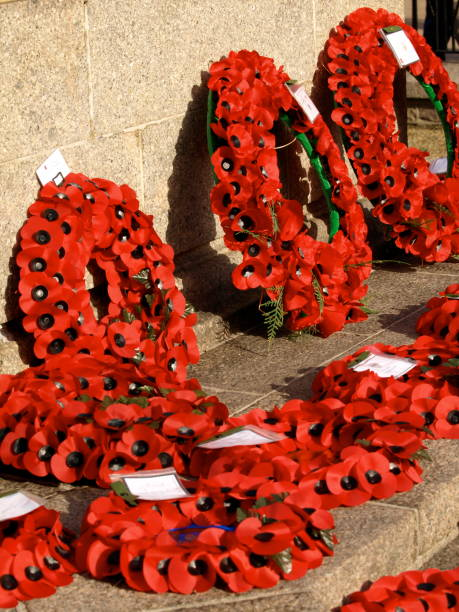 Remembrance day wreaths, Jersey.