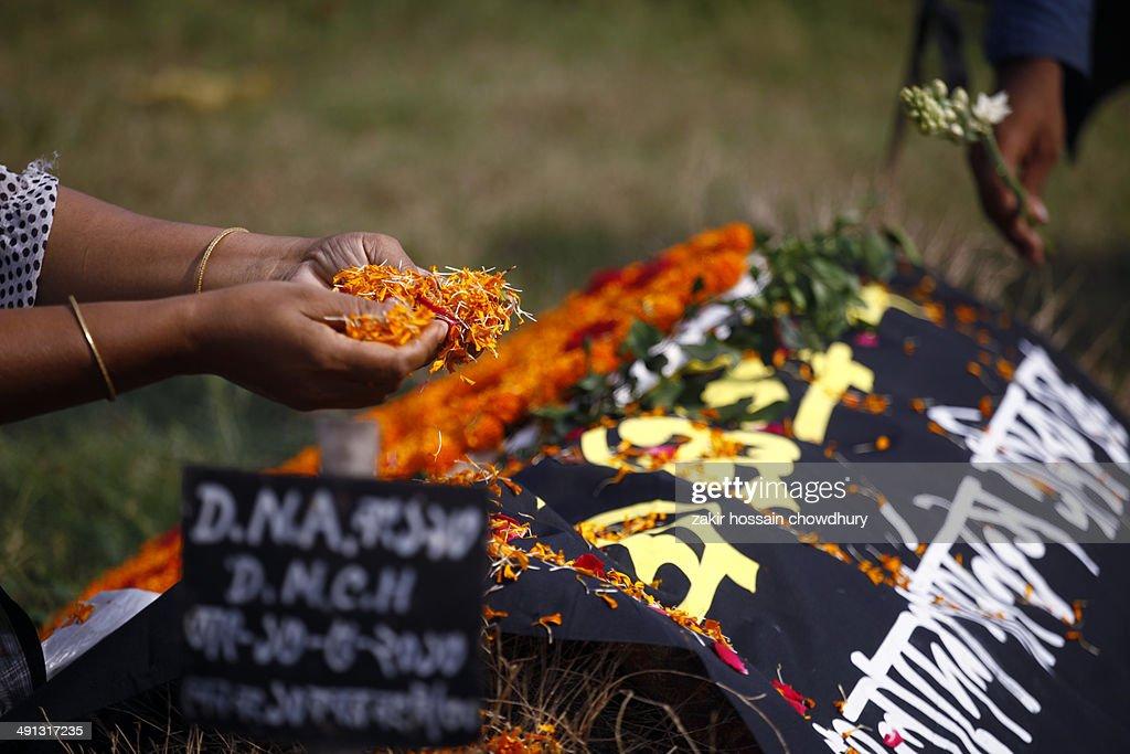 Remembrance of st anniversary of rana plaza trag stock photo