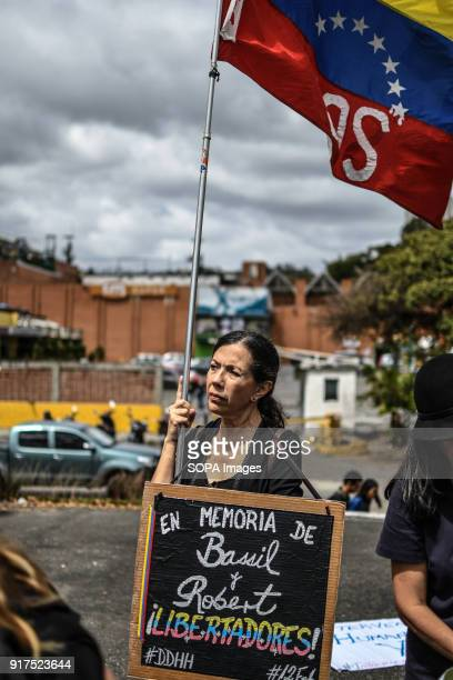 ESTE CARACAS MIRANDA VENEZUELA Remembrance service held in Caracas in honor of those killed during the protests in Venezuela Group of people marched...