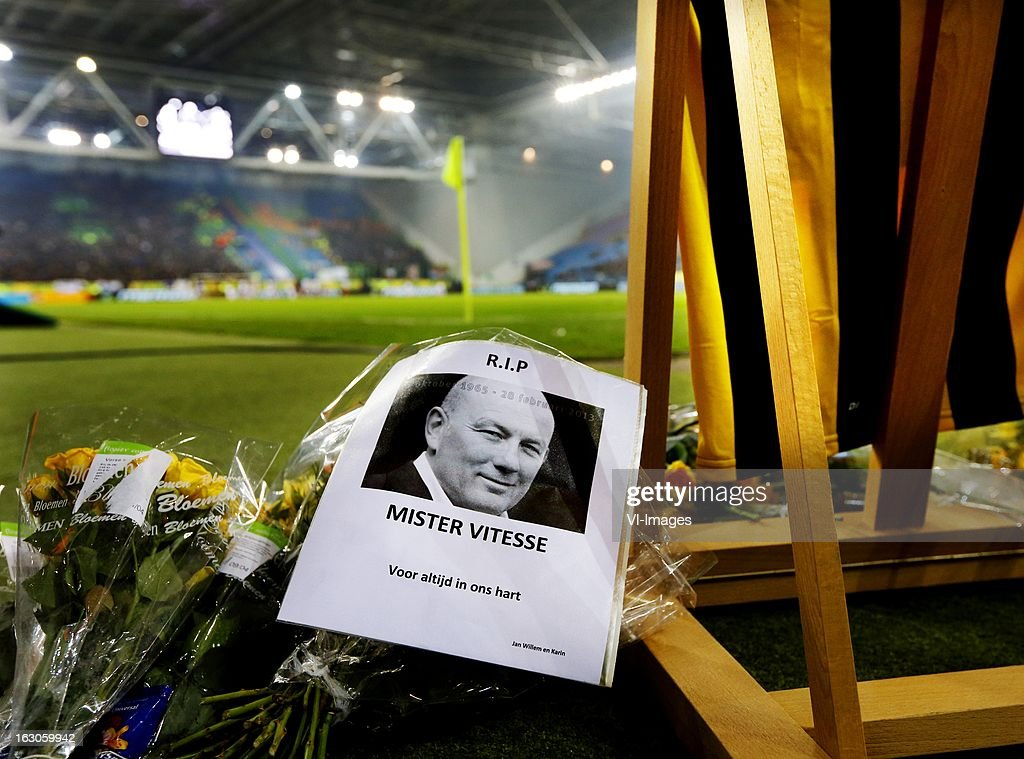 Remembrance Theo Bos during the Dutch Eredivisie match between Vitesse Arnhem and FC Utrecht at the Gelredome on march 01, 2013 in Arnhem, The Netherlands