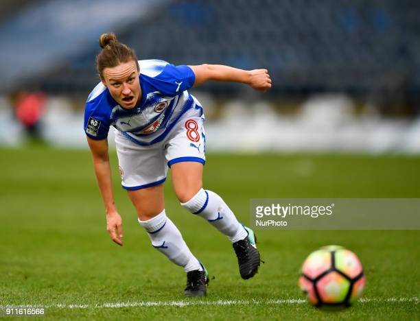 Remi Allen of Reading FC Women during Women's Super League 1 match between Reading FC Women against Arsenal at Wycombe Wanderers FC on 28 Jan 2018