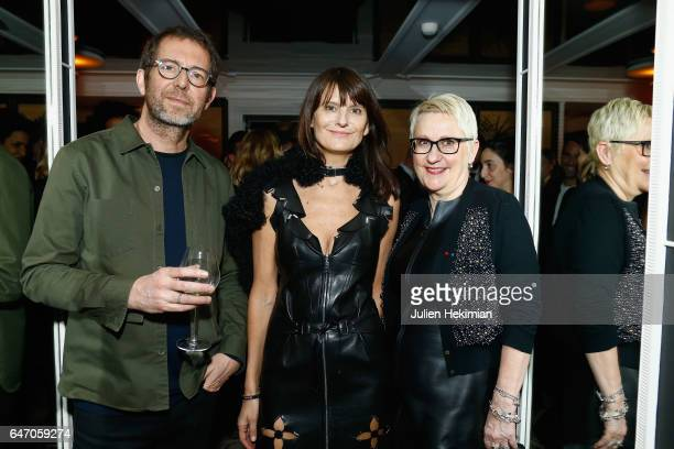 Remi Babinet MarieAmelie Sauve and Mercedes Erra attend the Mastermind Magazine launch dinner as part of Paris Fashion Week Womenswear Fall/Winter...