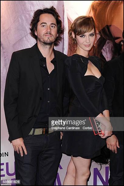 "Remi Bezancon and Louise Bourgoin attend the premiere of ""Un Heureux Evenement"" in Paris."