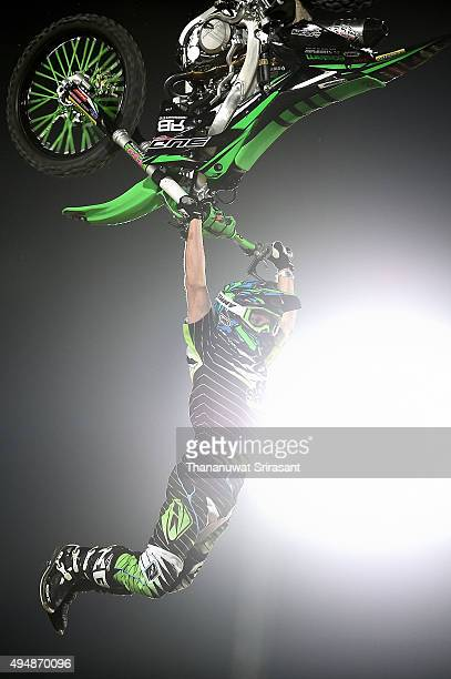 Remi Bizouard of France rides during the Red Bull XFighters World Tour 2015 on October 29 2015 in Abu Dhabi United Arab Emirates