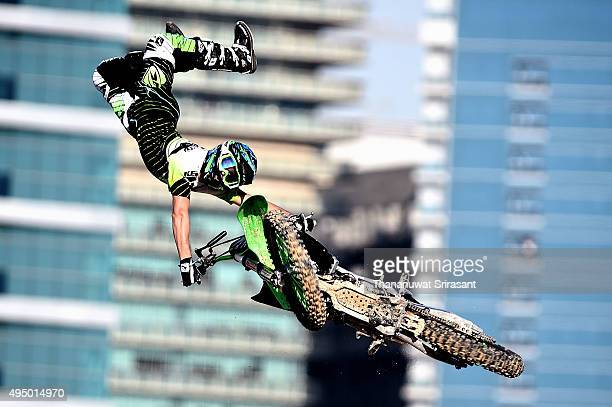 Remi Bizouard of France rides during the Red Bull XFighters World Tour 2015 on October 30 2015 in Abu Dhabi United Arab Emirates
