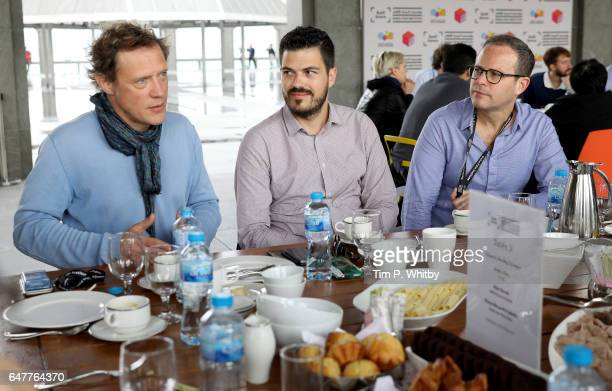 Remi Burah ARTE France Cinema and Bobby Allen MUBI lead a working breakfast session on Beyond the Big Screen during day two of Qumra the third...