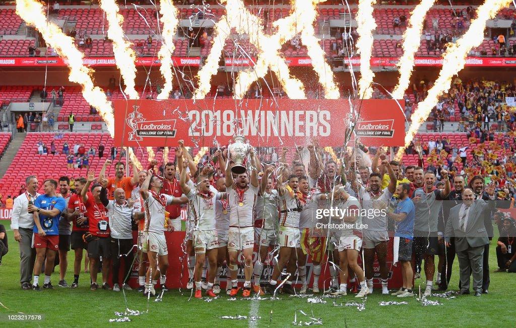 Catalans Dragons v Warrington Wolves - Ladbrokes Challenge Cup Final : News Photo