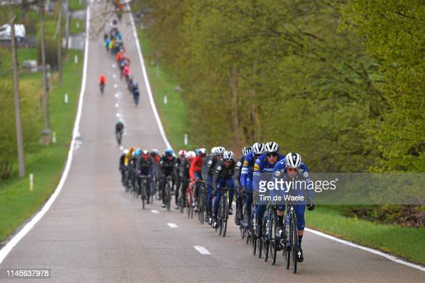 Remi Cavagna of France and Deceuninck-QuickStep / Petr Vakoc of Czech Republic and Deceuninck-QuickStep / Peloton / Rain / Landscape / during the...