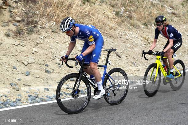 Remi Cavagna of France and Team Deceuninck QuickStep / Alex Hoehn of The United States and and The USA National Team / compete during the 14th Amgen...