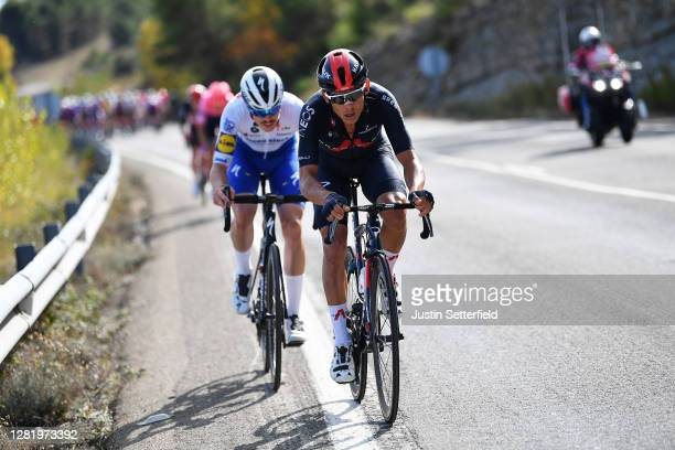 Remi Cavagna of France and Team Deceuninck - Quick-Step / Andrey Amador Bikkazakova of Costa Rica and Team INEOS - Grenadiers / during the 75th Tour...