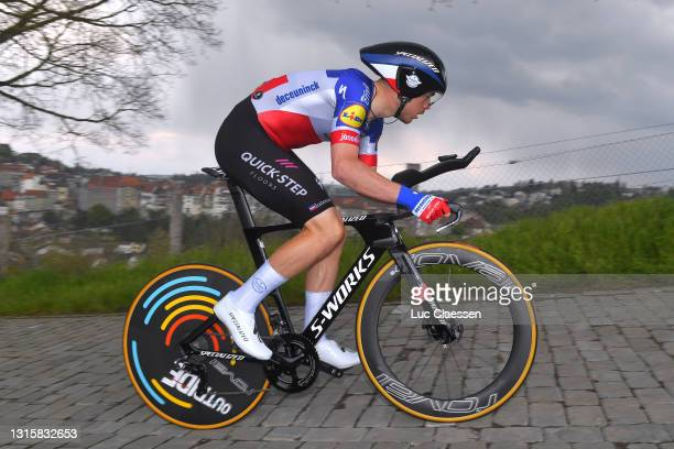 Remi Cavagna of France and Team Deceuninck - Quick-Step during the 74th Tour De Romandie 2021, Stage 5 a 16,19km Individual Time Trial stage from...