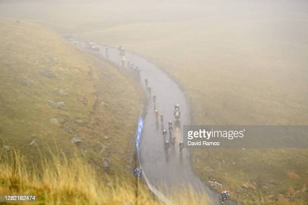 Remi Cavagna of France and Team Deceuninck - Quick-Step / Ion Izagirre Insausti of Spain and Astana Pro Team / Quentin Jauregui of France and Team...