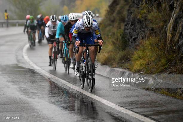 Remi Cavagna of France and Team Deceuninck - Quick-Step / Mattia Cattaneo of Italy and Team Deceuninck - Quick-Step / Guillaume Martin of France and...