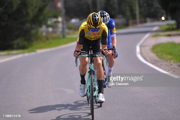 Remi Cavagna of France and Team Deceuninck - Quick-Step / Neilson Powless of The United States and Team Jumbo - Visma / during the 76th Tour of...