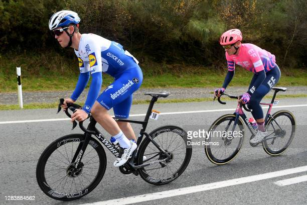 Remi Cavagna of France and Team Deceuninck - Quick-Step / Tejay Van Garderen of The United States and Team EF Pro Cycling / during the 75th Tour of...