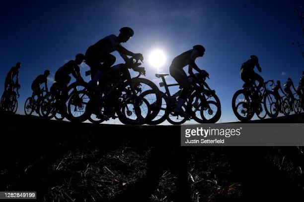 Remi Cavagna of France and Team Deceuninck - Quick-Step / Zdenek Stybar of Czech Republic and Team Deceuninck - Quick-Step / Peloton / Silhouette /...