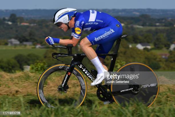 Remi Cavagna of France and Team DeceuninckQuickStep / during the 74th Tour of Spain 2019 Stage 10 a 362 Individual Time Trial stage from Jurançon to...