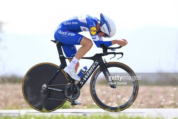 Remi Cavagna of France and Team QuickStep Floors / during the 58th Vuelta Pais Vasco 2018 Stage 4 a 194km individual time trial stage from Lodosa to...