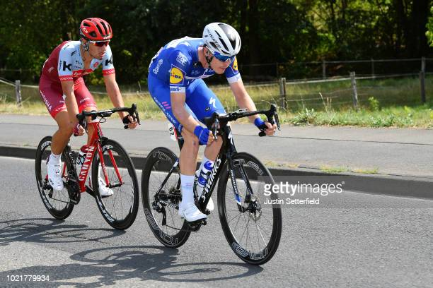 Remi Cavagna of France and Team Quick-Step Floors / Jenthe Biermans of Belgium and Team Katusha - Alpecin / during the 33rd Deutschland Tour 2018, a...