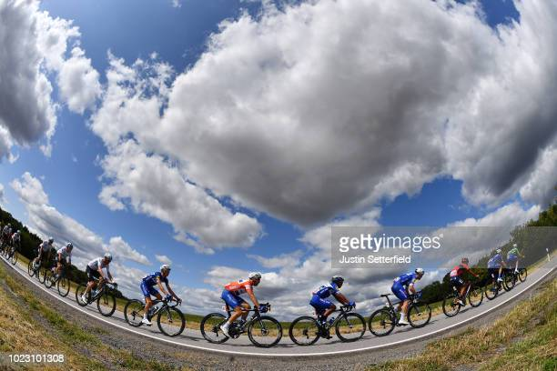 Remi Cavagna of France and Team Quick-Step Floors / Maximilian Schachmann of Germany and Team Quick-Step Floors Red Leader Jersey / Jhonatan Narvaez...