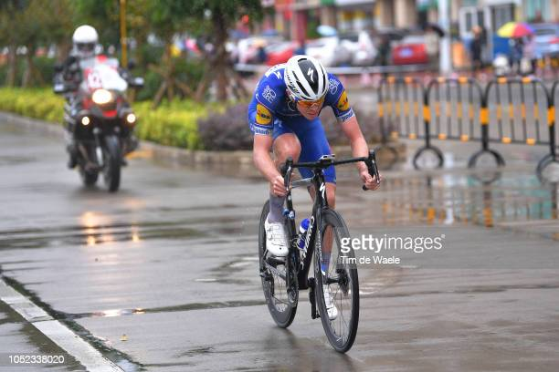 Remi Cavagna of France and Team QuickStep Floors / Rain / during the 2nd Tour of Guangxi 2018 Stage 2 a 1452km stage from Qinzhou to Nanning / Gree...