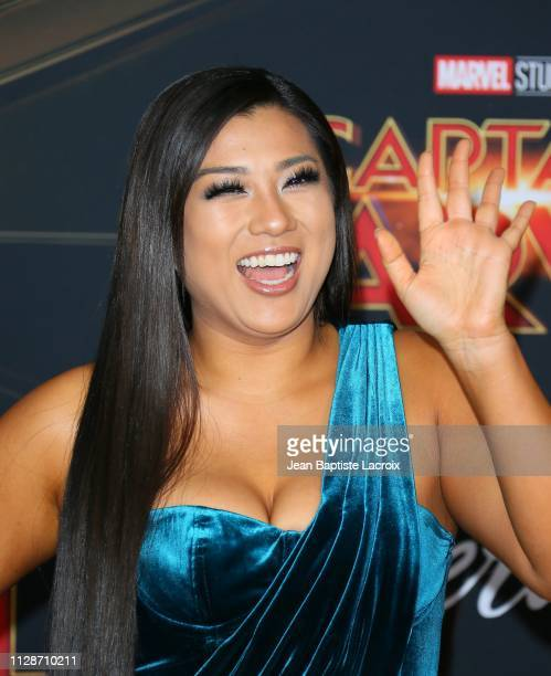 Remi Cruz attends Marvel Studios 'Captain Marvel' Premiere on March 04 2019 in Hollywood California