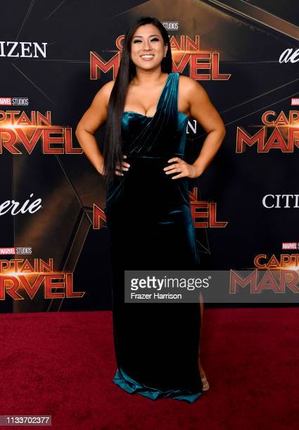 Remi Cruz attends the Marvel Studios Captain Marvel premiere on March 04 2019 in Hollywood California