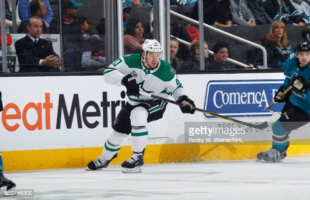 Remi Elie of the Dallas Stars skates against the San Jose Sharks at SAP Center on February 18 2018 in San Jose California
