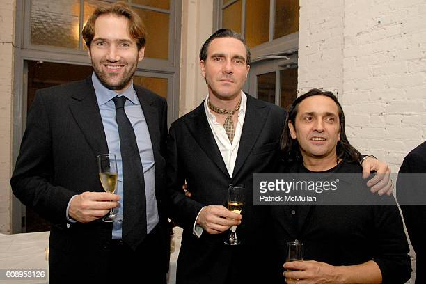 Remi Fritsch-Fontanges, Paolo Canevari and Tony Guerrero attend KLAUS BIESENBACH with SANDRA BRANT and INGRID SISCHY host dinner to honor BARBARA...