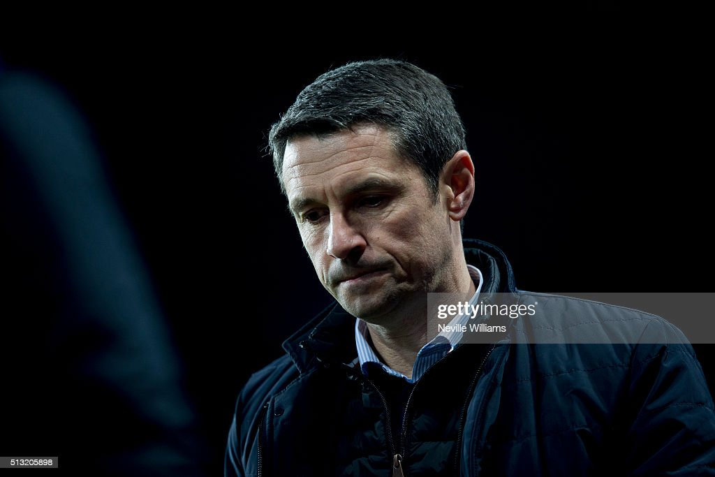 Remi Garde manager of Aston Villa during the Barclays Premier League match between Aston Villa and Everton at Villa Park on March 01, 2016 in Birmingham, England.