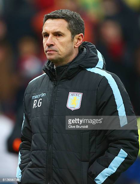 Remi Garde Manager of Aston Villa leaves the pitch after his side's 12 defeat in the Barclays Premier League match between Stoke City and Aston Villa...