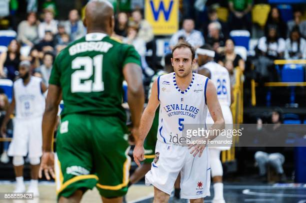 Remi lesca of Levallois during the Pro A match between Levallois and Limoges on October 7 2017 in LevalloisPerret France
