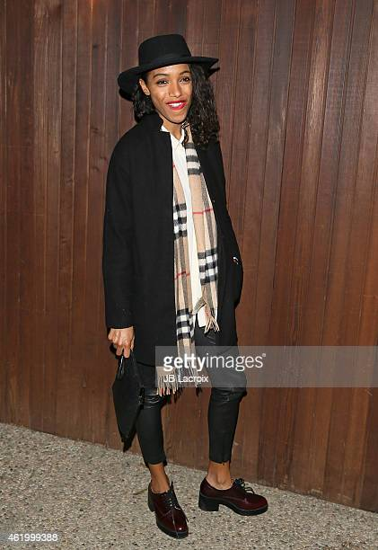 Remi Nicole attends the Alexa Chung for AG Los Angeles launch party at a private residence on January 22 2015 in Beverly Hills California