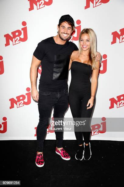 Remi Notta and Maddy Burciaga attend Les Anges 10 Press Launch on March 9 2018 in Paris France