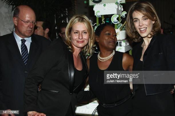 Remi Pflimlin Luana Belmondo Babette de Rozieres and Julie Andrieu attend 'C a Vous' 500th Edition Celebration on March 22 2012 in Paris France