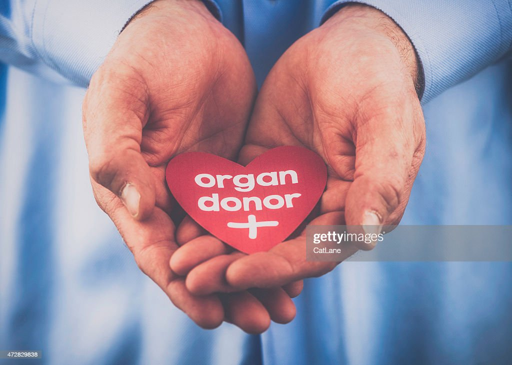 Reminder of the importance of being an organ donor : Stock Photo