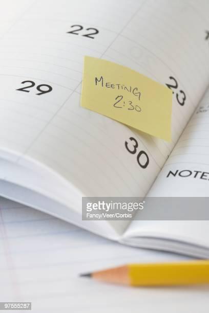 Reminder on calendar