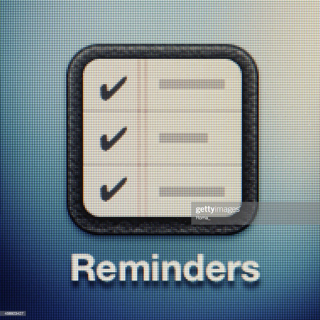 Reminders : Stock Photo