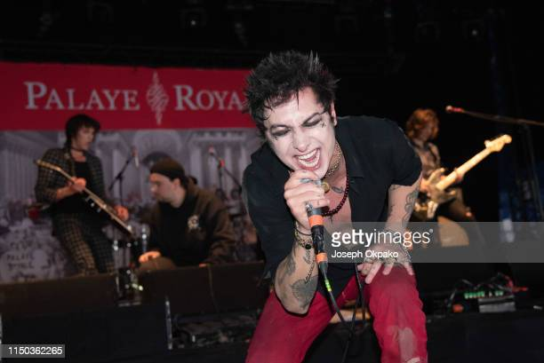 Remington Leith from Palaye Royale performs on stage during day 3 of Download festival 2019 at Donington Park on June 16 2019 in Castle Donington...